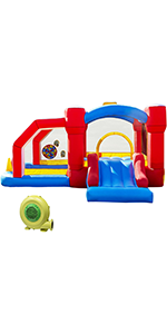 Inflatable Bounce House with Play Area