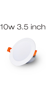 LED downlight installed on the ceiling, dimmable and color-adjustable