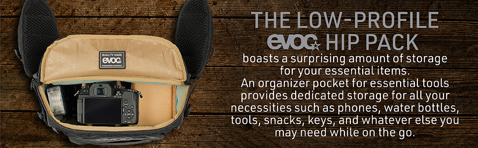 the low profile evoc hip pack