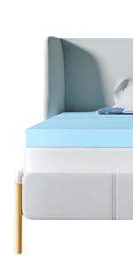 recci 2.5-inch gel memory foam mattress topper