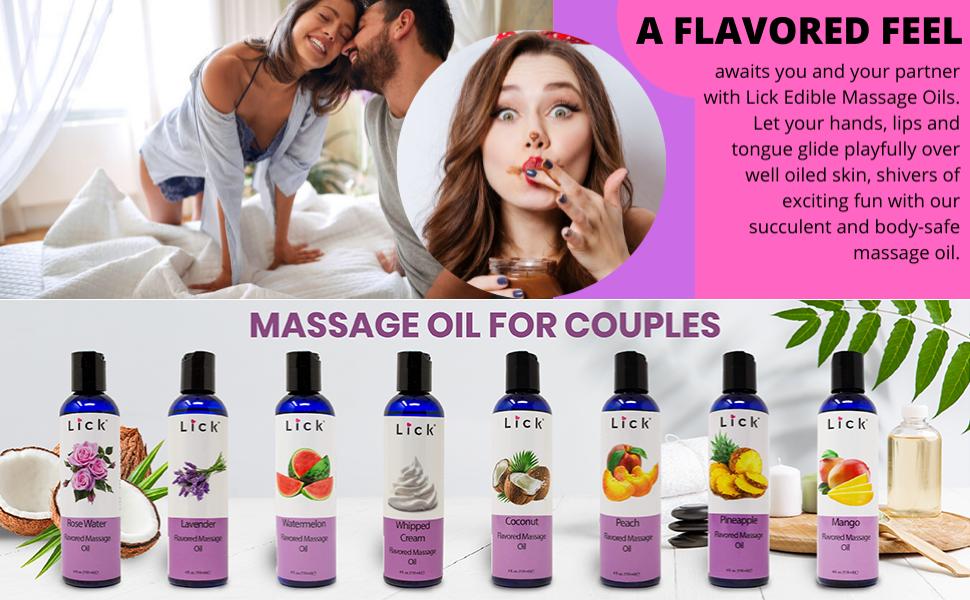 Caramel massage oils edible and body safe
