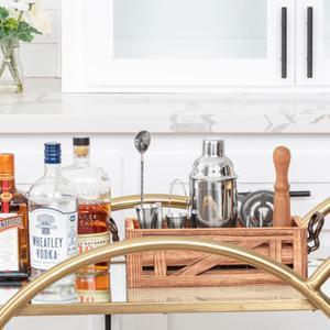 mixology bartender kit bartending kit bar tool set  mixology set drink mixing kit mix drink shaker