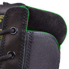 Suede collar hiking boots black