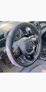 Chameleon-like Colorful Steering Wheel Cover