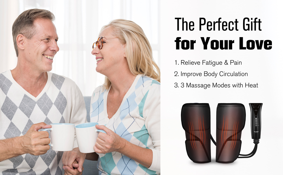 FIT KING Leg Air Massager with Heat for Circulation