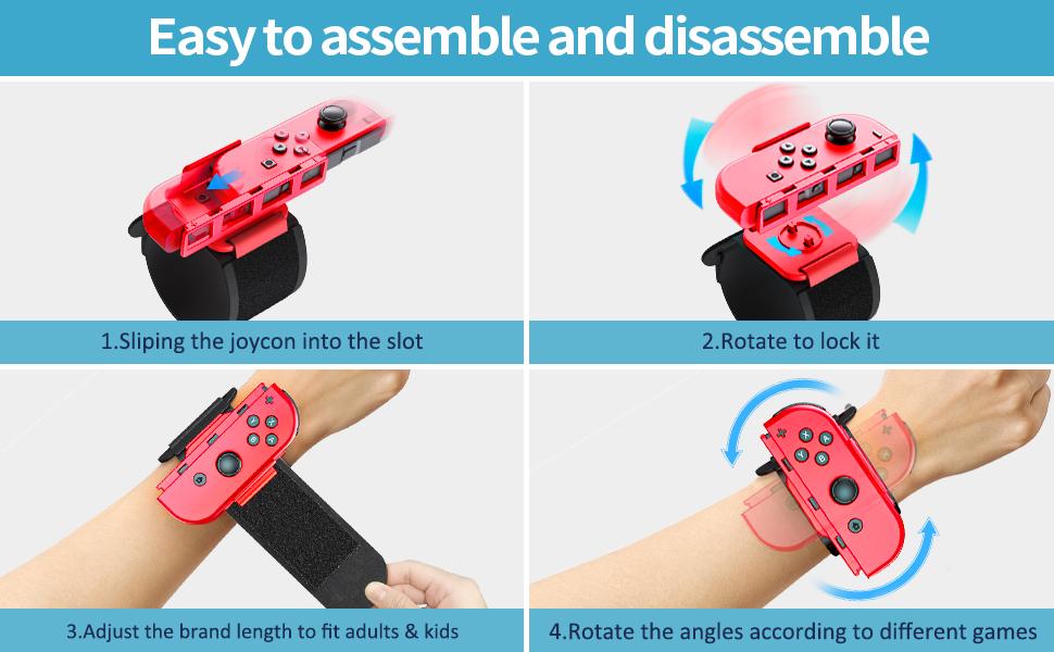 Wristband for Nintendo Switch joycons