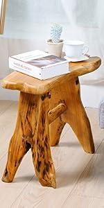 wood tree stump stool