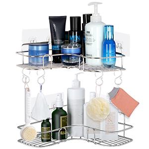 shower caddy corner stainless steel