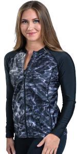 Aqua Design Womens Full Zip Long Sleeve Rash Guard