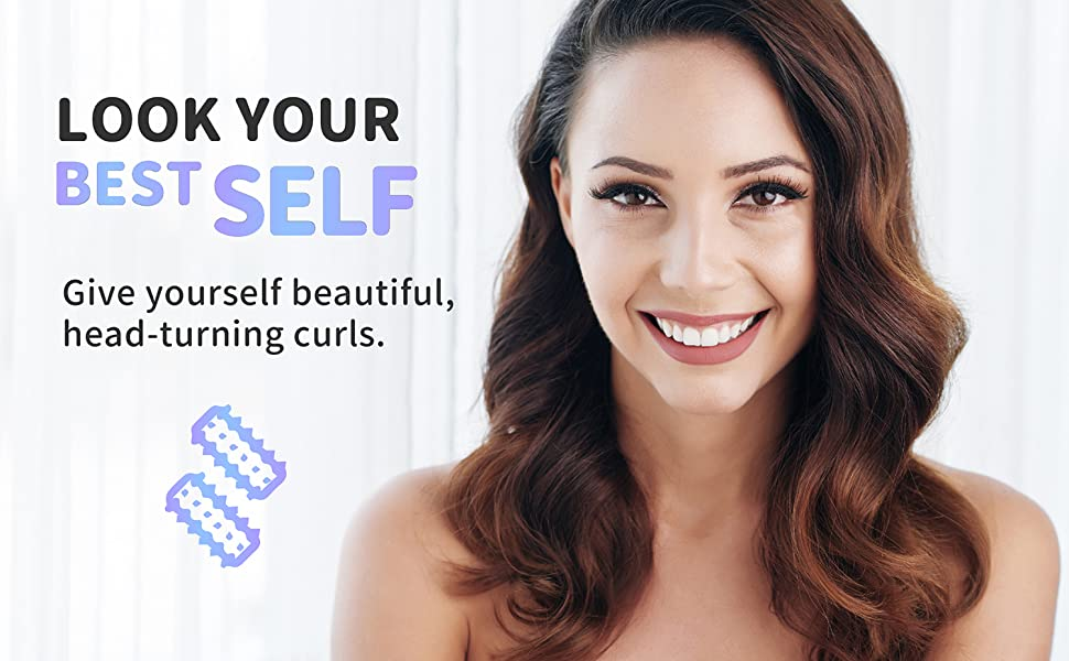 Look your best self with QUMENA hair rollers. Voluminous hair!