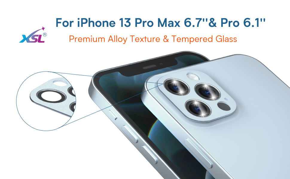 camera lens protector for iphone 13 pro max 6.7'' sierra blue