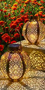 Solar Lantern Lights Hanging Lanterns Tabletop