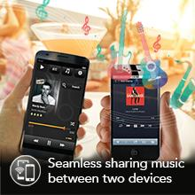 simultaneous seamless sharing two devices multiple