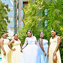V Neck Slit Bridesmaid Dresses 2021 Long