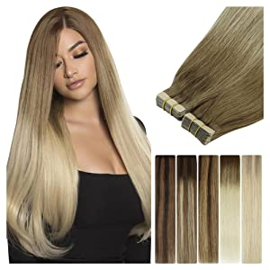 human hair extensions tape in hair seamless invisible