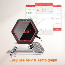 easy to use temperature graph