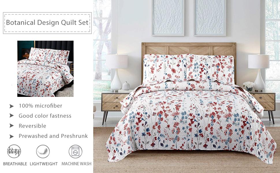 floral bedspread