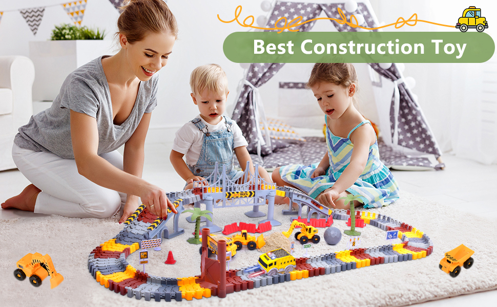 Construction Race Track Toy for Boy