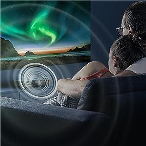 WEMAX Nova Smart Laser Projector - Ultra Short Throw, 4K UHD Video Resolution, Wireless Smartphone