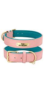 Custom Personalized Dog Leather Collar