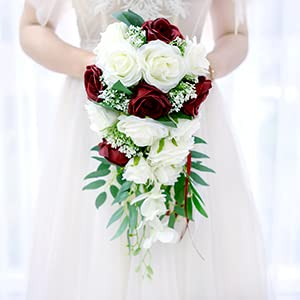 Burgundy Bridal Bouquet for Bride