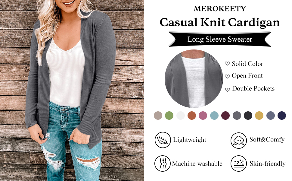 Classic knit sweater cardigans for women