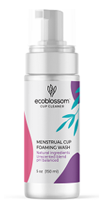 Menstrual Cup Cleaner - Unscented Foaming Sterilizer Wash for Silicone Period discs - Wipes Clean