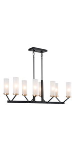black and gold linear chandelier