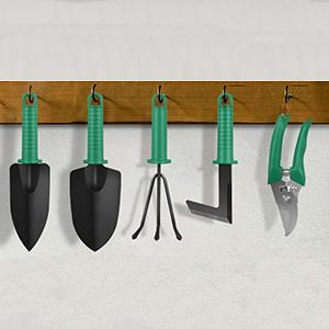 our tools can be hung on the towel bars