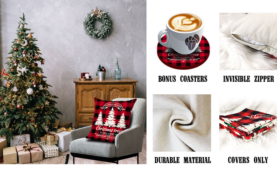 soft christmas pillow covers