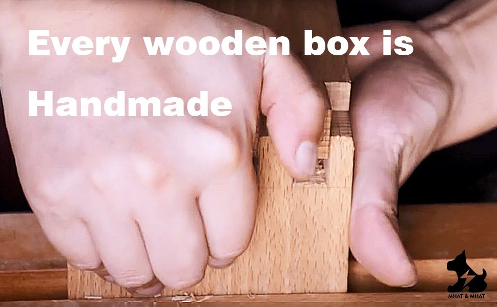 The dozens of processes of the wooden box are all done by hand