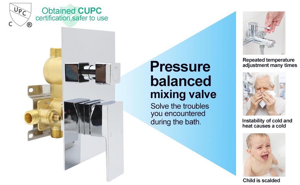 Pressure balance valve