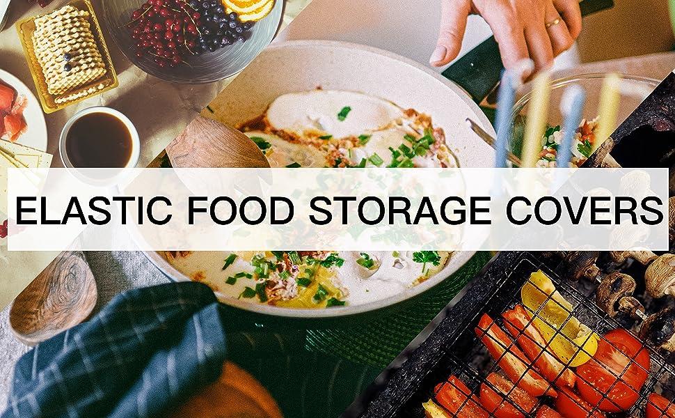 ELASTIC FOOD STORAGE COVERS