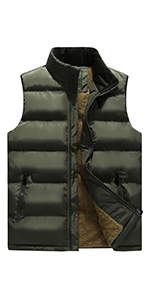 Mens Winter Warm Outdoor Fleece Vest Outerwear Casual Sleeveless Jacket