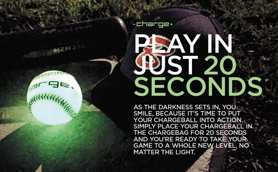Chargeball Glow in The Dark baseball - Play in just 20 seconds