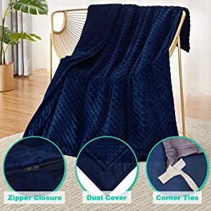 Weighted blanket cover