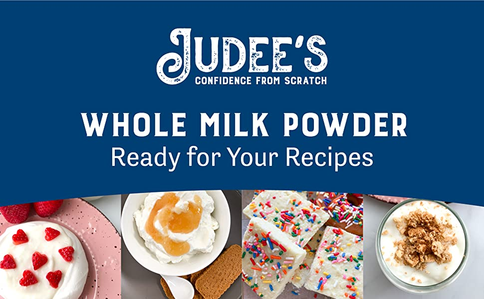 judees whole milk powder ready for your recipes