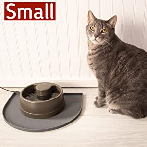 Small Fountain Mat for small pet fountains with cat