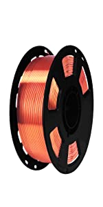 silk metallic copper filament