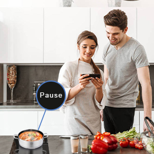 pause induction cooktop