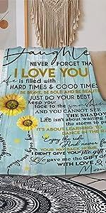 Sunflower Love Letter to My Daughter Blanket