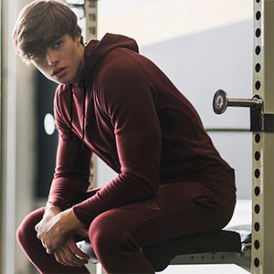 en's Casual Hoodie Muscle Fit Workout Fashion Athletic Sweatshirts Solid Color Pullover