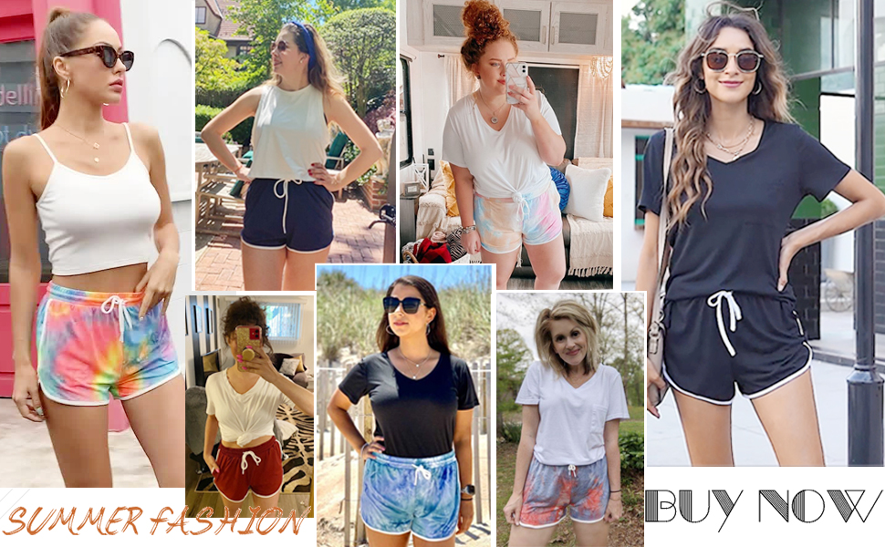 shorts for women cute beach shorts with pockets