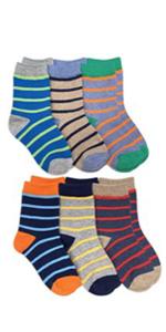 Jefferies Socks Boys Stripe Pattern Crew Socks 6 Pack