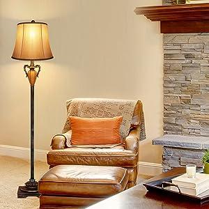 floor lamps beside sofa