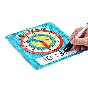 Student clock set for toddlers, kids, preschoolers, kindergarten, elementary school, home school