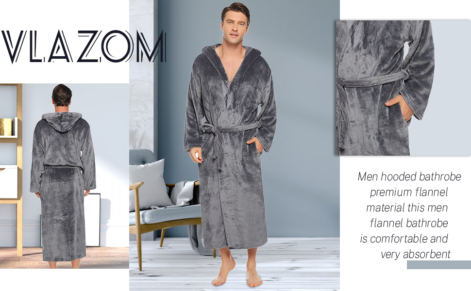 luxury thick dressing gowns for men,mens lightweight dressing gowns,mens extra long hooded bathrobe