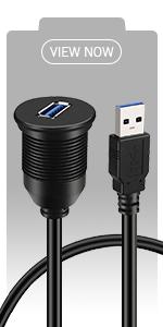 BATIGE - SINGLE PORT USB 3.0 CAR MOUNT FLUSH CABLE view now