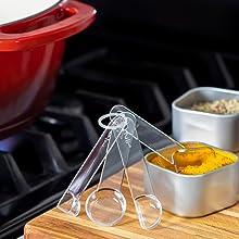 Visual measuring spoon, teaspoon fitting inside spice jar