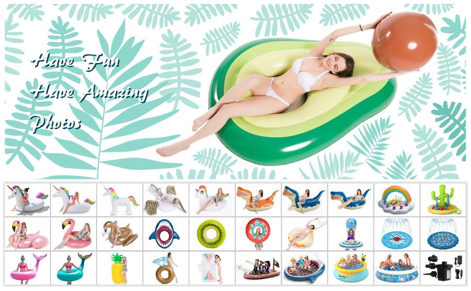 Avocado Pool Floats